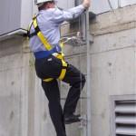 梯子からの墜落防止システム 使用事例6