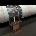 配管支持部の金属接触部の腐食対策 RollerKit