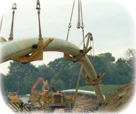 ガスパイプラインのFRPライニング