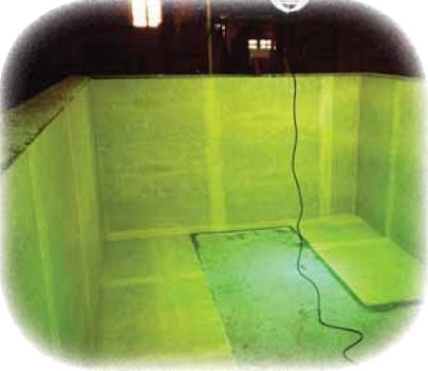 コンクリートタンクの内面ライニング